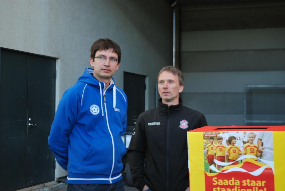 Martin Reim with Estonian FA marketing manager, Siim Juks.