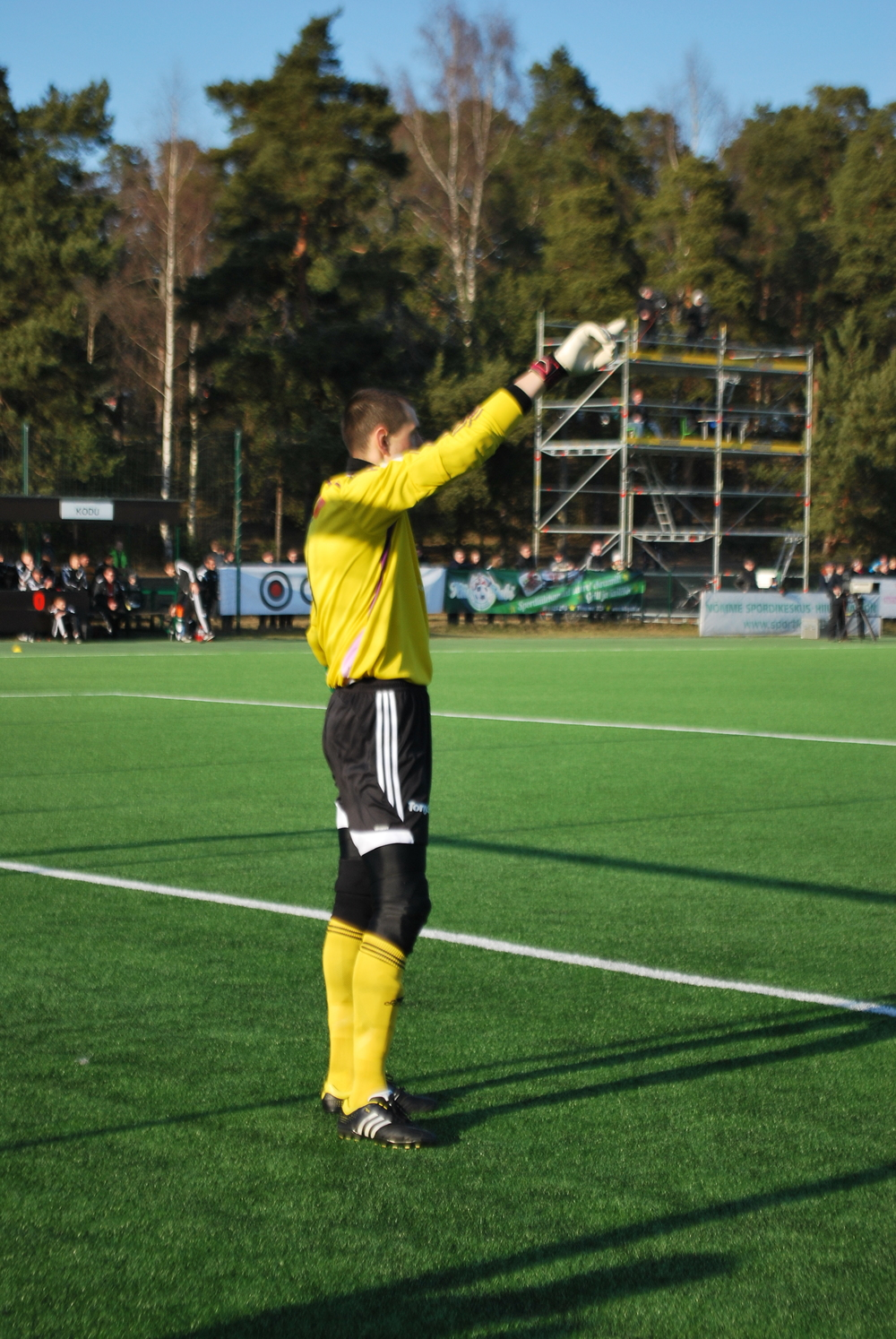 Roman Śmiśko, Levadia's goalkeeper and captain, was also a great protagonist between the sticks