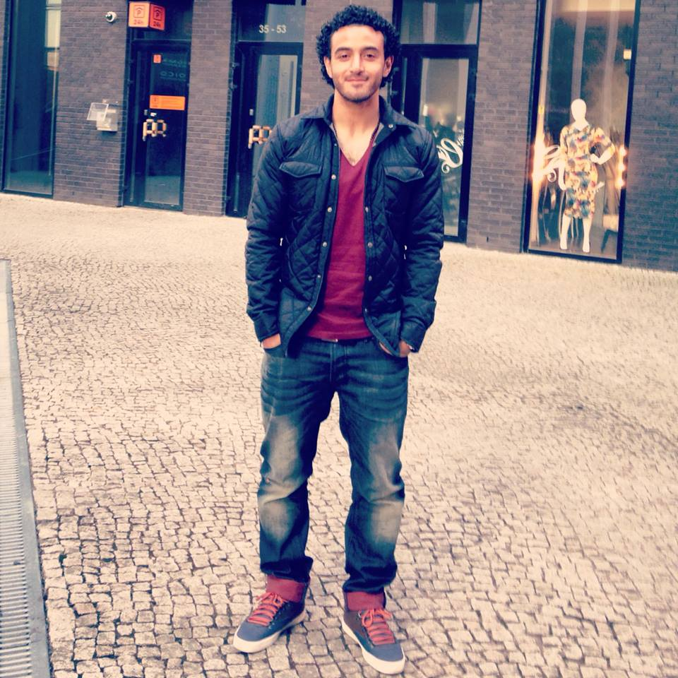 Omar in the streets of Tallinn (Facebook)