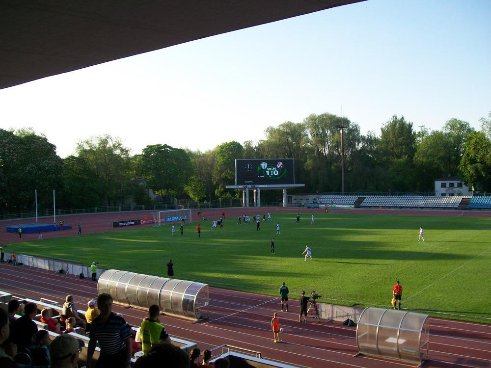 The scoreboard looms large as Kalju desperately seek an equaliser Photo: RdS