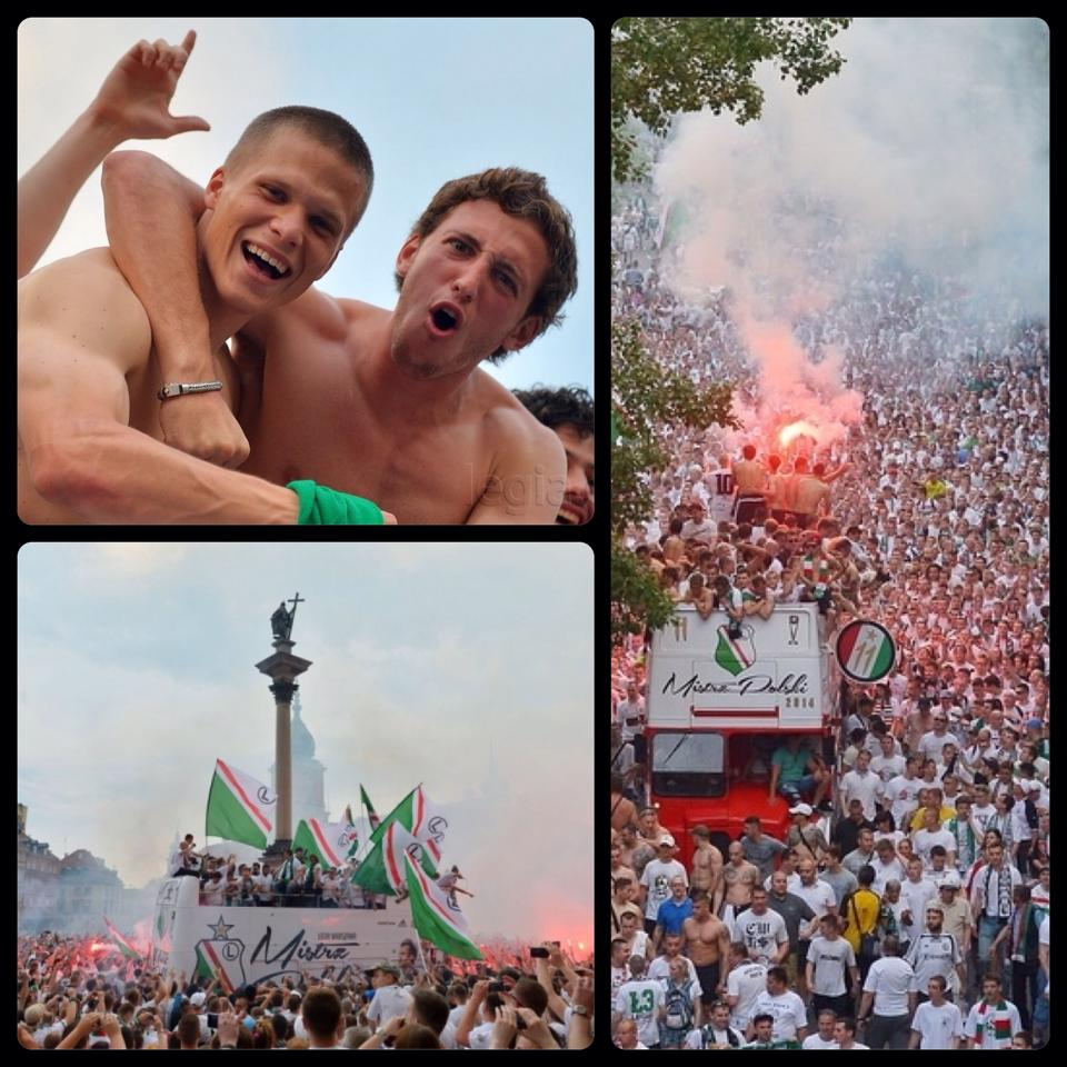 Ojamaa (left in top picture) celebrating the title in Warsaw (Facebook)