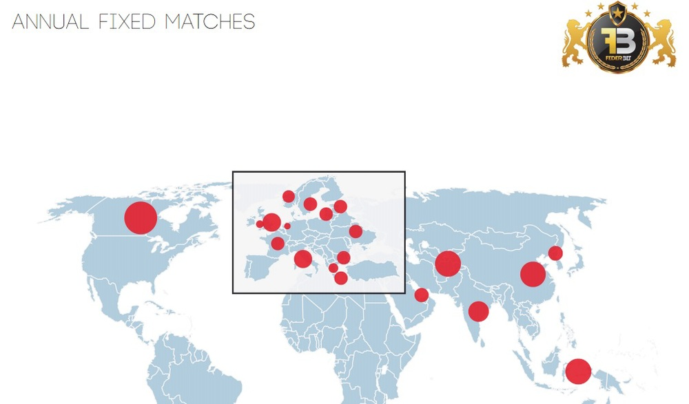 The map of matchfixing according to Federbet. Estonia is there along with Lithuania and Latvia: 6 matches of Virsliga and 5 of A-Lyga under the spotlight. Francesco Baranca, secretary general of Federbet, has described as 'endemic' the situation of matchfixing in Baltic football.