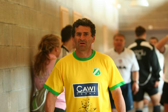Getulio with a Brazil-inspired Kalju jersey of some seasons ago