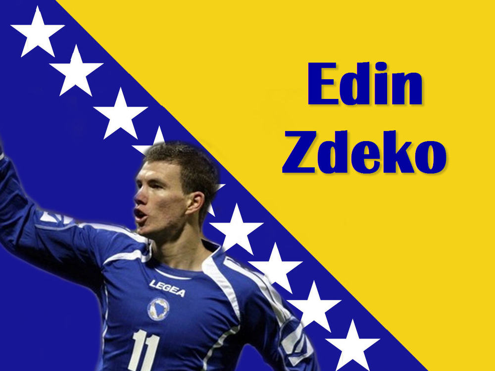 Edin Dzeko is the flagship player for Novo and all Bosnia.