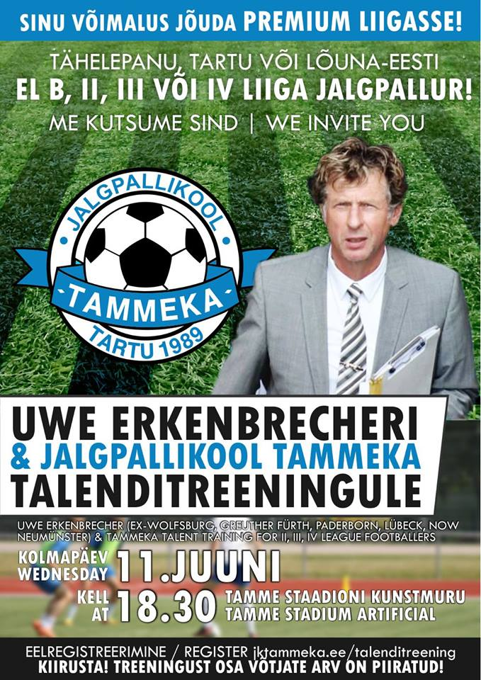 Tammeka and Uwe have been inviting talents to Tamme Stadium for trials.