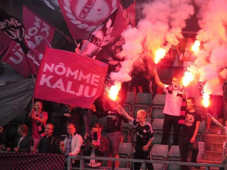 The Kalju fans were in full voice