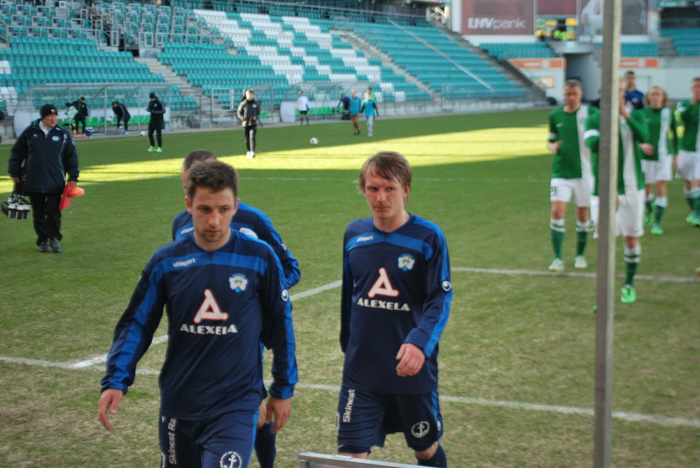 Ratnikov, right, will miss the clash with Levadia next weekend, a key-match for Sillamäe not to lose ground with the top 3 in(RdS)