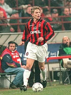 Steinar Nilsen in AC Milan strip at the end of 90's