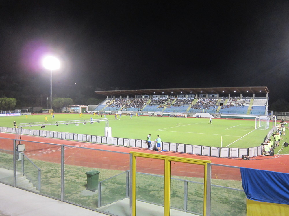Stadio Olimpico di Serravalle is where also Estonia will play against San Marino in the Euro 2016 qualifiers