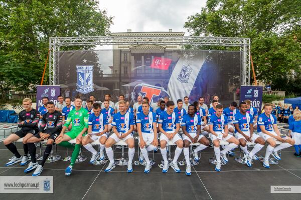 Lech Poznan at the presentation on Sunday the 13th of July with the new strip by Nike