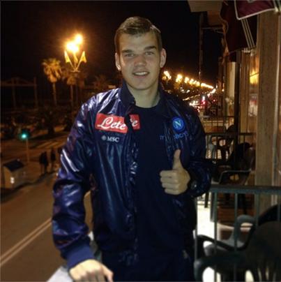 Frank in Viareggio for the Spring tournament with Napoli Primavera (Facebook)