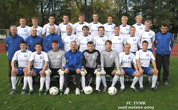 FC TVMK - 2005 Champions. Oleg Andreev standing on the right, mid line. Many players of that team are still 2014 Premium Liiga acts