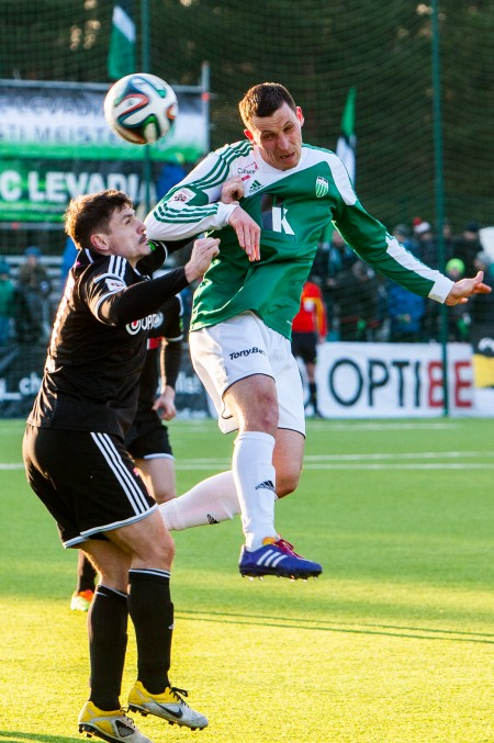 Teever's header gave Levadia the lead, and the points (fclevadia.ee)