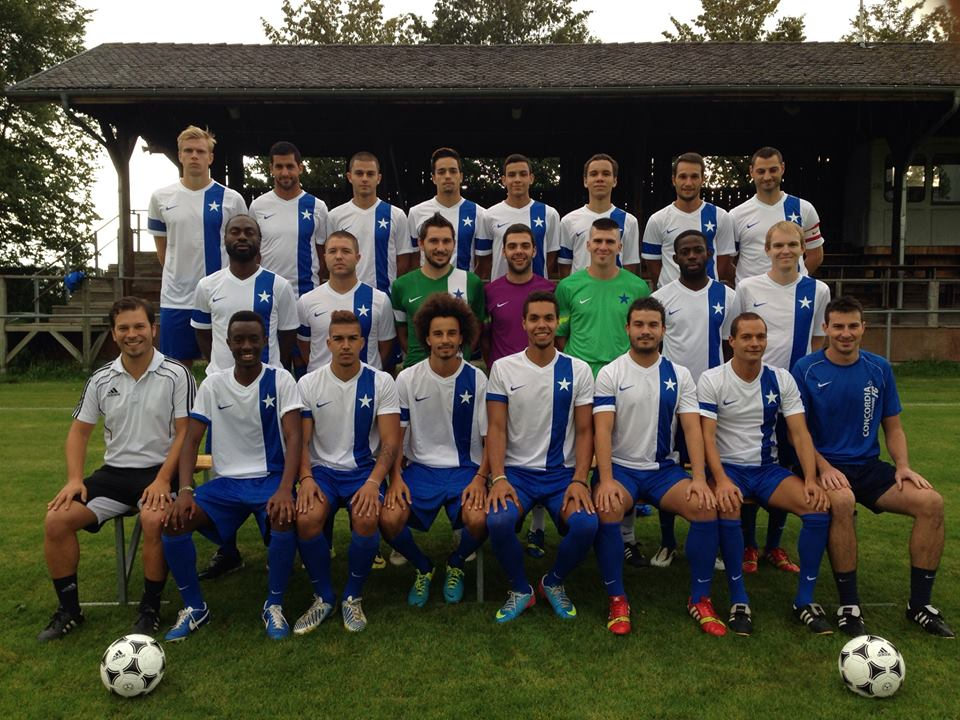 Markus Holst in team picture with Concordia Lausanne (first from left in the top row - click to enlarge)