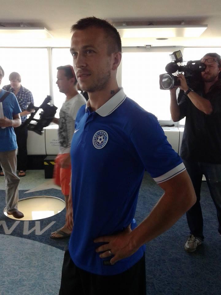 Enar Jääger looking good with the new Estonian strip