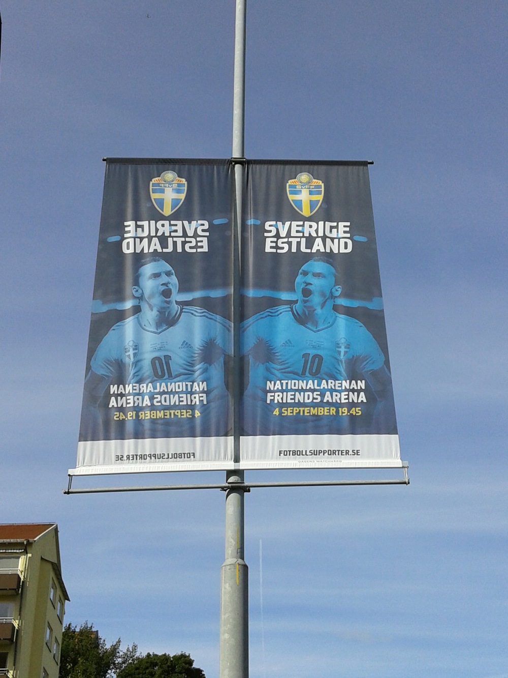Zlatan is already all over on the way to the venue