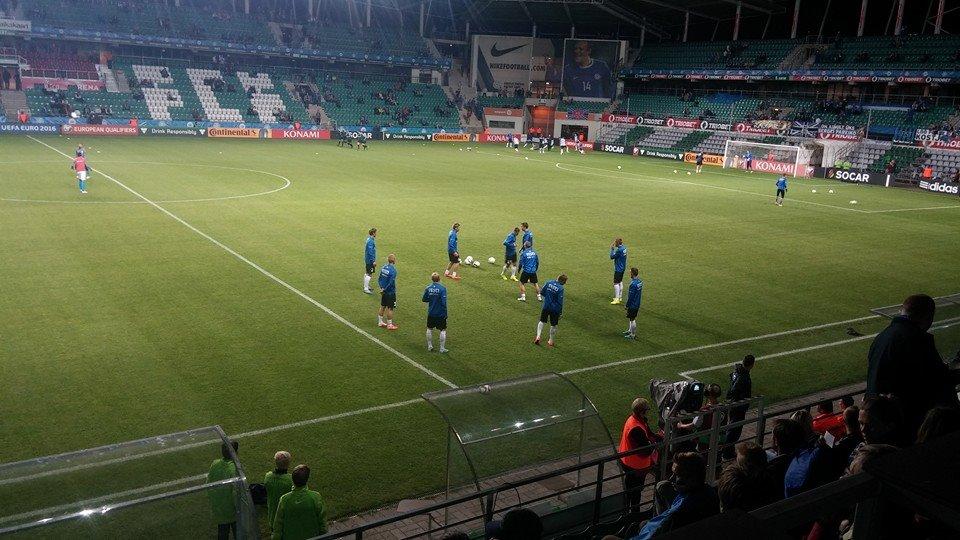 Eesti koondis warming up (foto: RdS)