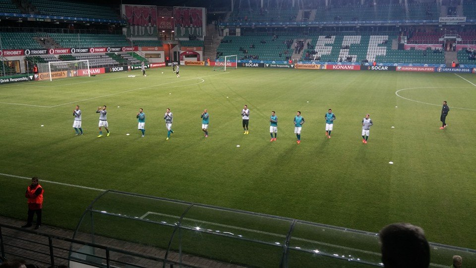 Slovenian national team warming up (foto: RdS)