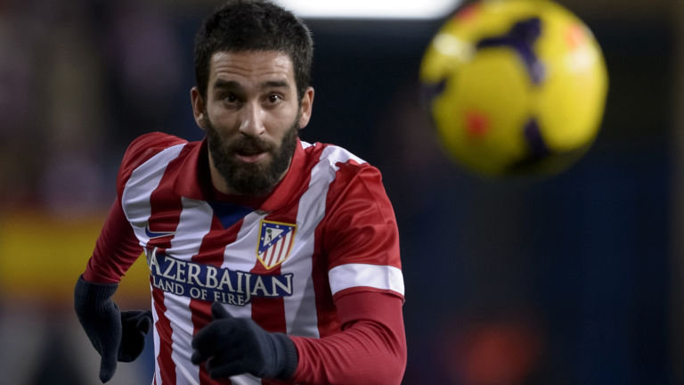 Arda Turan scored the winner in the first Madrid derby of the season (foto: skysports.com)