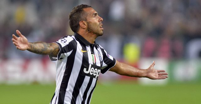 Tevez returned to European scoreboards after 5 years.