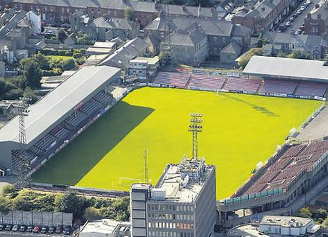 An aerial view of Dalymount Park (www.indipendent.ie)