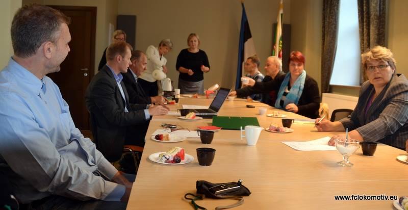 The cross meeting between Lokomotiv board members and the Jõhvi city council (www.fclokomotiv.ee)