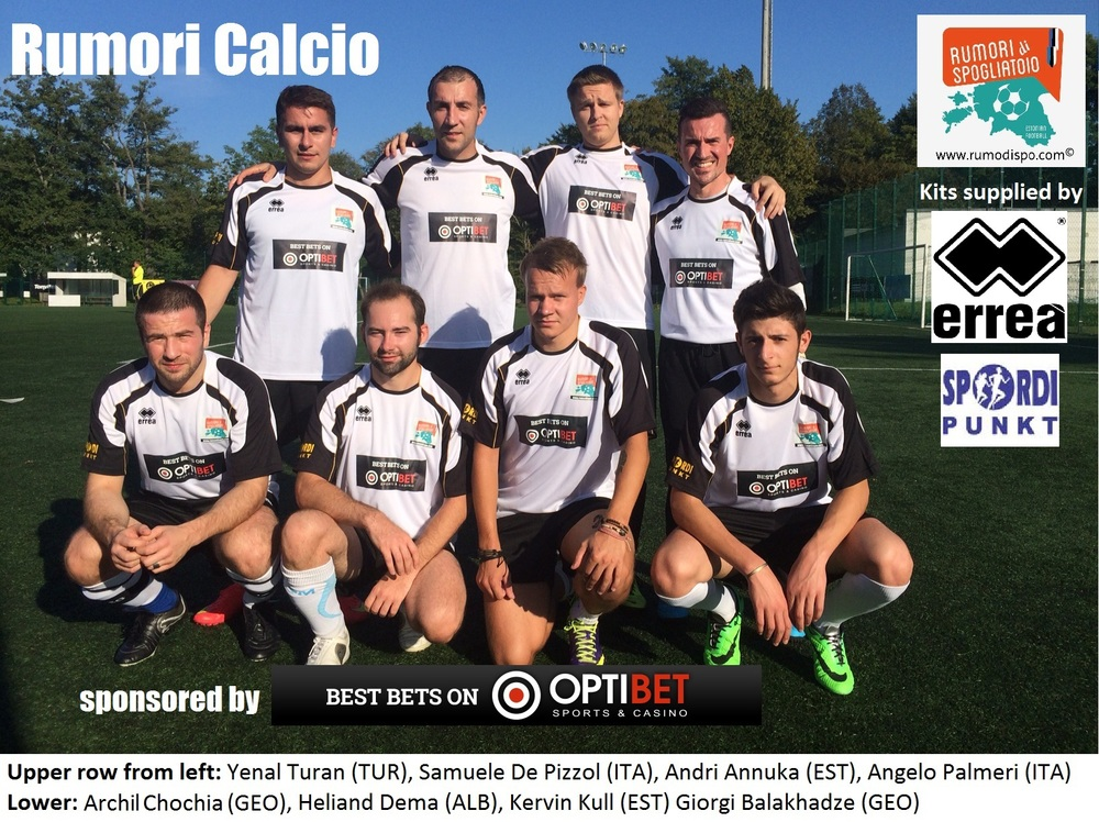The Rumori Calcio team in their last outfit at Grandliiga Cup - the team will return in the futsal season.