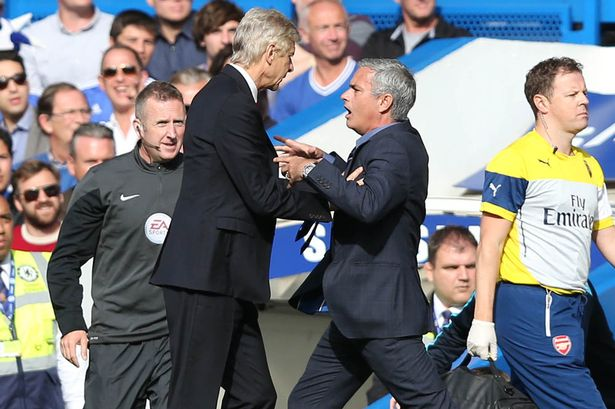 Wenger squares up to Mourinho image: mirror.co.uk