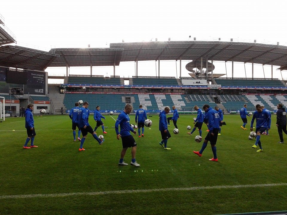 Estonia did train in A.LeCoq Arena instead