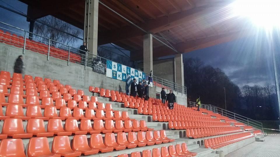Sillamäe fans tonight in Tartu (photo: Deni Delev)