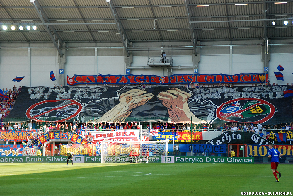 Piast's supporters' end in a derby with GKS Katowice