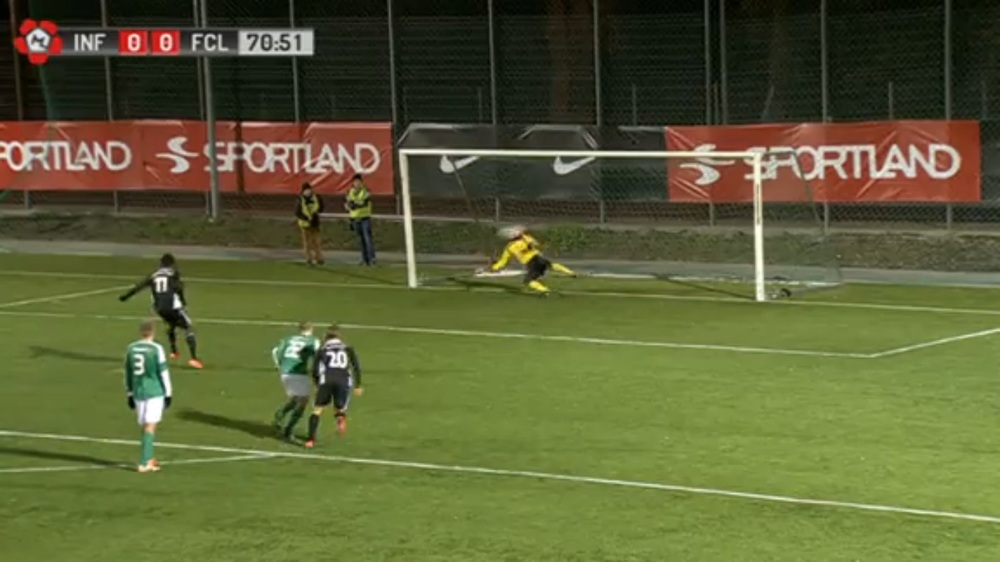 Manucho with his 24th and 25th goal denied the reigning champions (screenshot: ERR Sport)