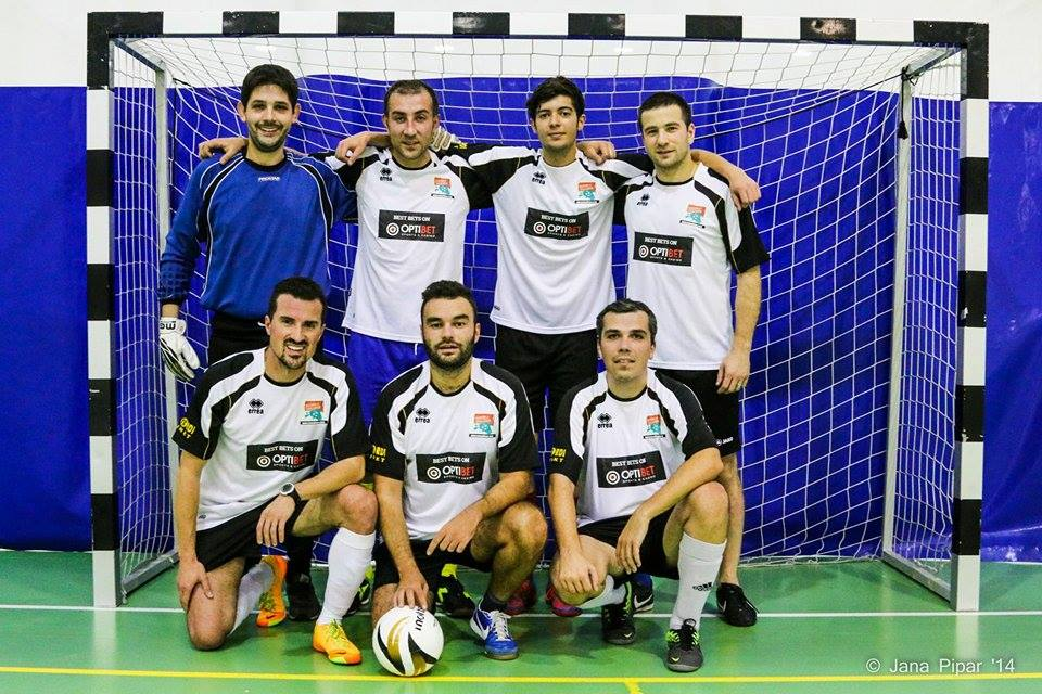 A futsal line-up for Rumori Calcio in pre-season friendly against Jõgeva Wolves (12-6 win for RC) - photo Jana Pipar
