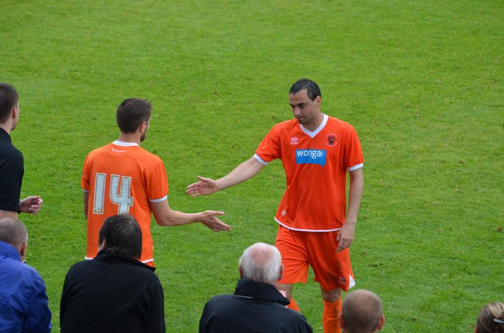Time to step out for Sergei Zenjov, 8 appearances with no goals (Liveinblackpool)
