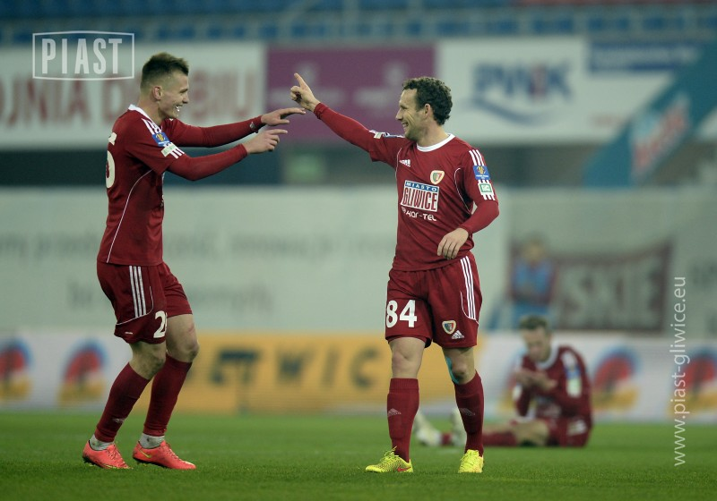 Piast's teammates have already tasted the joy of a Vassiljev netting (Piast official website)