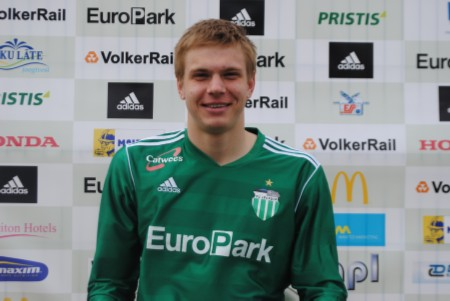 Markus during his time at Levadia