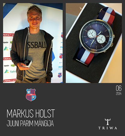 Markus was June Best Player at Paide (Paide Facebook page)