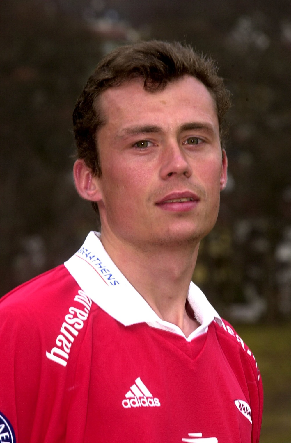 A young Terehhov with Brann Bergen's strip (photo: brann.no)