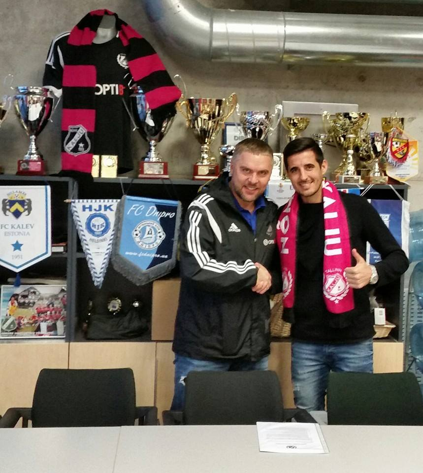 Jorge Rodrigues (right) with club's president, Kuno Tehva.