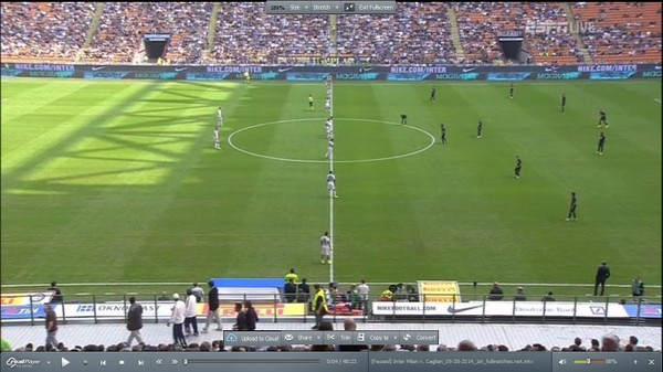 Cagliari on 2-0-8 at kick-off against Inter (internet).