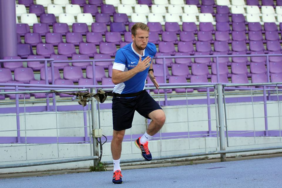 Henri Anier working hard to get back in fitness after his injury last summer (FC Erzgebirge Aue)