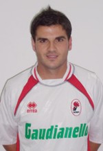 Di Vicino with Bari's strip (2006-07, 15 appearances and 1 goal)