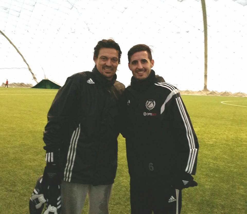 In Estonia you can end up training with legendary Jari Litmanen... (Jorge Rodrigues Facebook page)