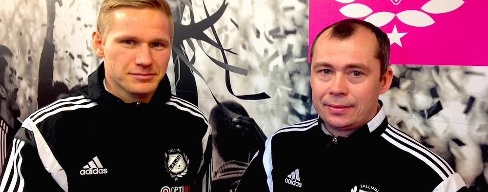 Ats Purje (left) with Sergei Terehhov, sport director and coach of Kalju FC (JKKalju.ee)