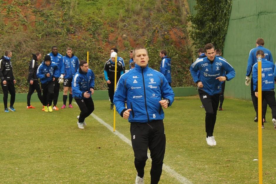 Henrik Ojamaa in action at Sarpsborg 08 training camp in Spain (club's website)