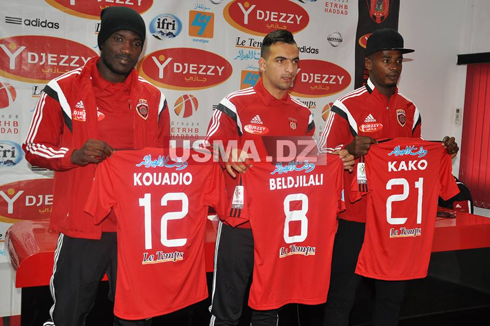 Manucho (first from left) joined USM Alger in January (USMA.dz)
