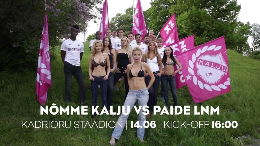We'll take them off if Kalju wins... (screenshot YouTube)