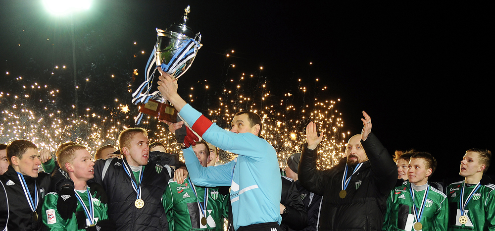 It was 2013 when Levadia rose the Supercup in Tallinn's sky last time. 2014 they had to surrender to Flora.