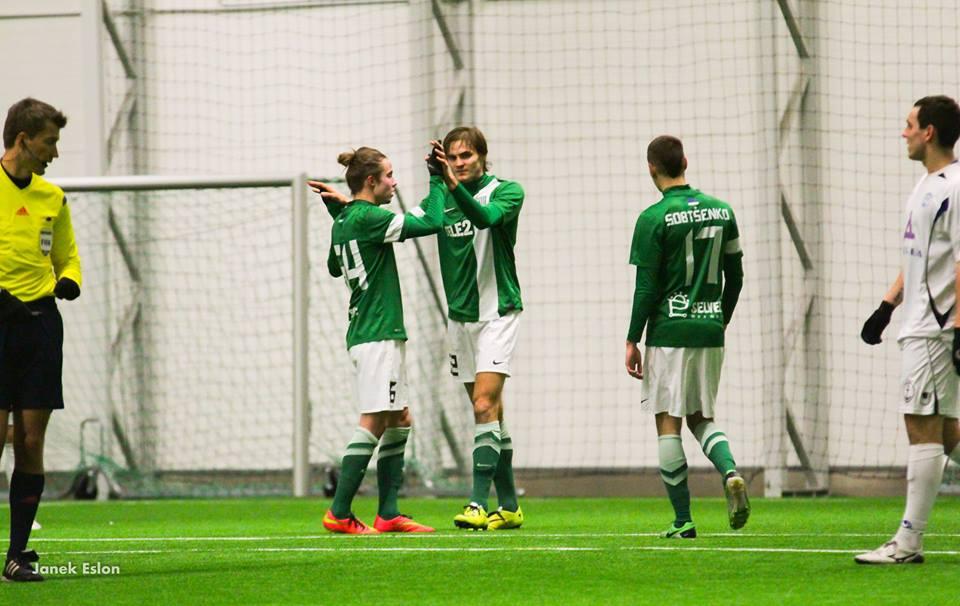Sakari Tukiainen scored some goals in pre-season. The last one in a 3-1 win against IK Frej (SWE) (Janek Eslon/Flora Facebook page)