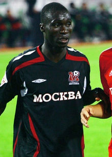 Dacosta with FK Moscow jersey. The Ivorian has played also at Luch Energia (wikipedia)